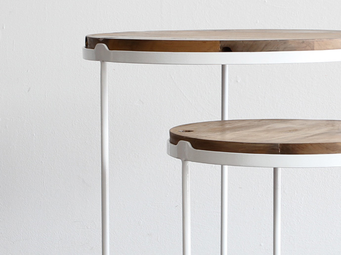 2 Lunar Side Table Set