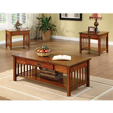 Featured Photo of Mission Style Coffee Table Set Home Decor
