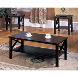 3-sets-wood-squate-shape-ideas-stained-3-Pieces-Coffee-Tables-Sets-black-furnish (Image 3 of 10)