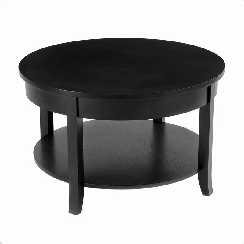 30 Inch Round Coffee Table With Lower Shelf Bay Shore 30 Round Coffee Table (View 1 of 9)