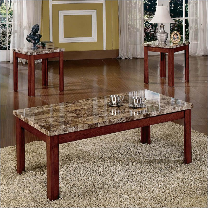 4 Sets Table On Living Room Ideas Qood Furnish Steve Silver Coffee Table Sets (Image 2 of 10)