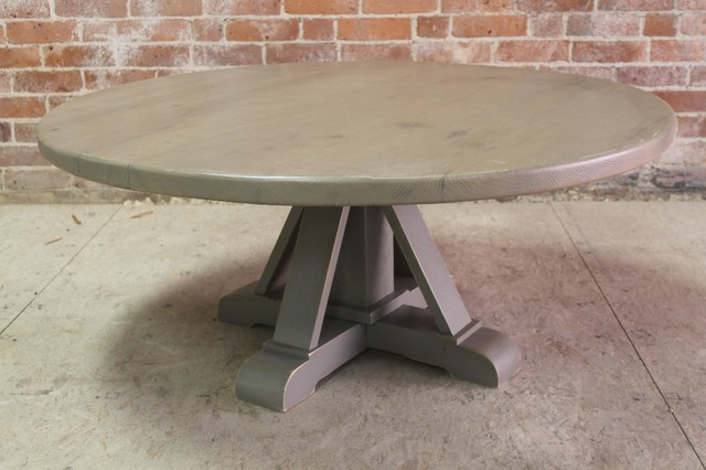 42-round-coffee-table-42-round-oak-coffee-table-from-reclaimed-oak-rustic-coffee-tables-round-coffee-tables (Image 2 of 10)