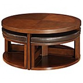 Featured Photo of Round Coffee Table With Chairs Underneath