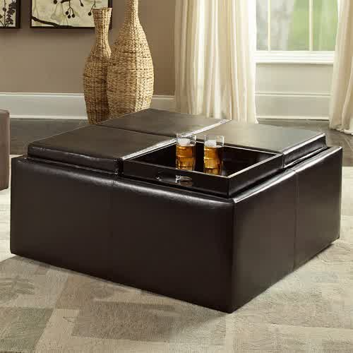 Featured Photo of Large Storage Ottoman Coffee Table Simple High Quality