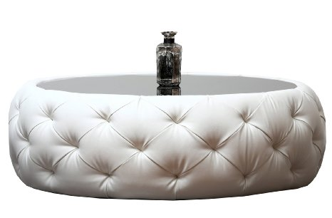 Featured Photo of Round Leather Coffee Table  Decoration
