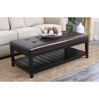 Featured Photo of Rectangular Leather Ottoman Coffee Table