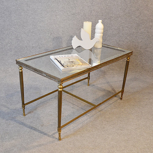 Explore Gallery Of Antique Brass And Glass Coffee Table Showing - Brushed brass side table