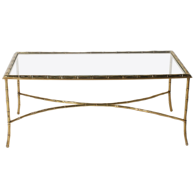 Bamboo Glass Coffee Table Clear Glass Has A Light And Aesthetically Clean Look Puling Light Through The Room To Create An Open (Image 2 of 10)