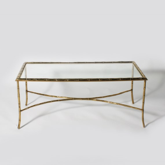 Bamboo Glass Coffee Table The Designer Louis Lara Has Shaped The Piece Into A Flowing Object Bordering Between Art And Furniture (View 6 of 10)