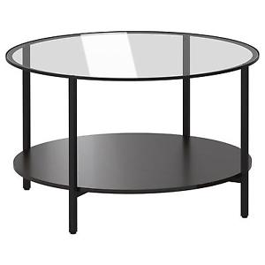 Beautiful Vintage Rustic Round Glass On Top Ideas Coffee Table Made With Solid Reclaim Wood (View 5 of 10)