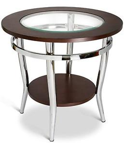 Beautiful Vintage Rustic Round Steel Wood And Glass Coffee Table Made With Solid Reclaim Wood (View 7 of 10)