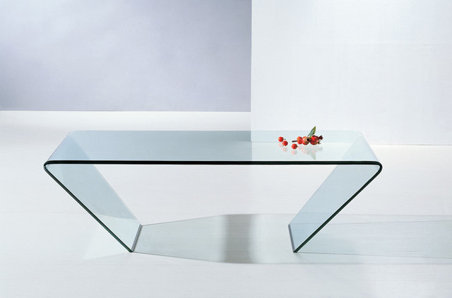 Merveilleux Bent Glass Coffee Table A Glass Table Is Versatile And Look Amazing In All  Interiors.