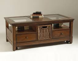 Featured Photo of Woodworking Coffee Table With Glass Display Top