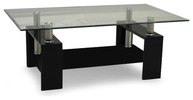 Black And Glass Coffee Table Contemporary Glass Coffee Tables With Is Both Practical And Stylish (View 2 of 10)