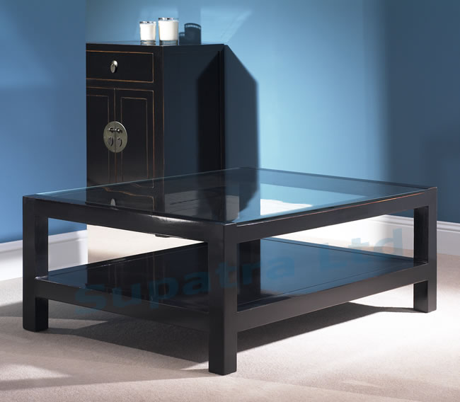 Black-And-Glass-Coffee-Table-Wonderful-Brown-Walnut-Veneer-Lift-Top-drawer-Glass-Storage-Accent-Side-Table (Image 9 of 10)