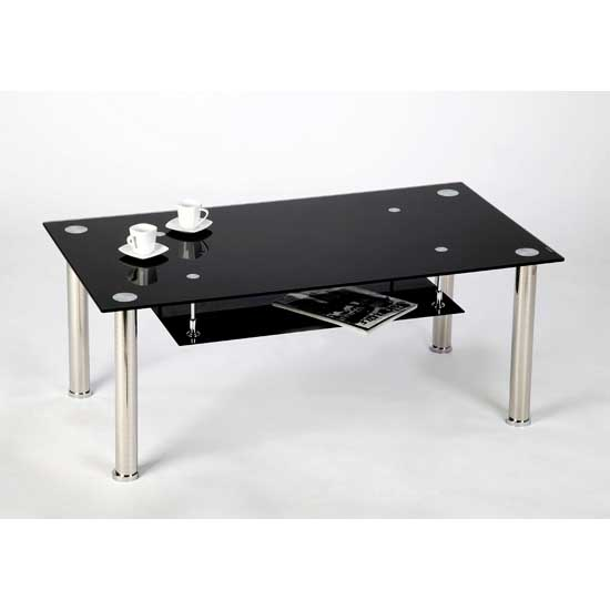 Black And Glass Coffee Table Is Both Practical And Stylish (View 4 of 10)