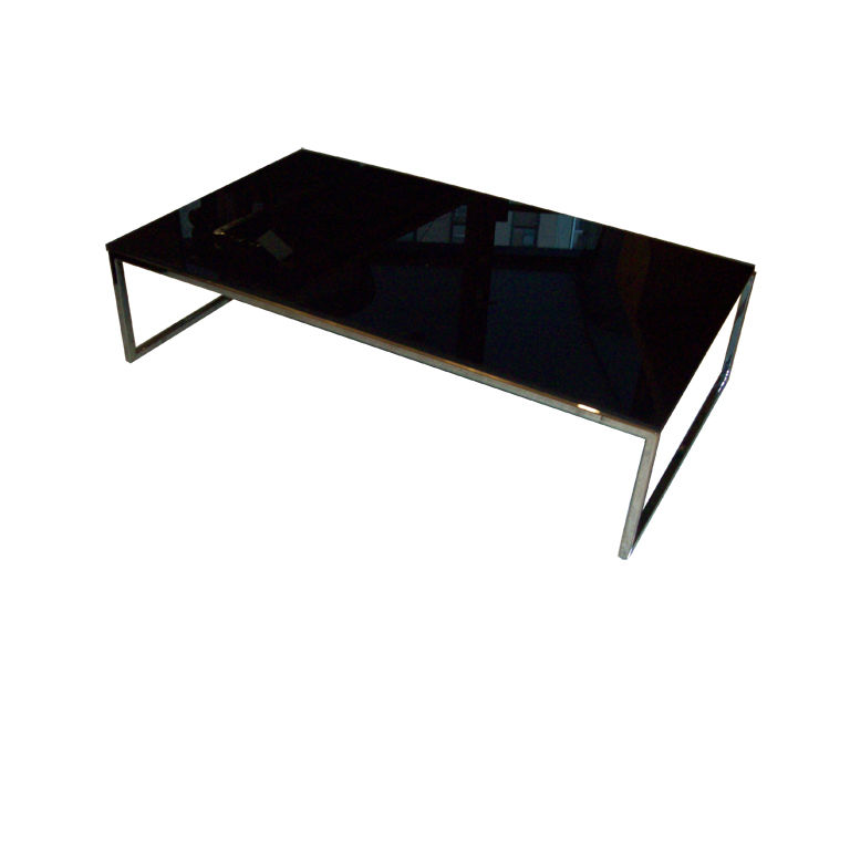 Black Glass Coffee Table Available Also In Painted Glass As Per Samples In Modern Clear Bent Glass Rectangular Coffee Table Strada Modern The Bright Or Mat Version (Image 2 of 10)