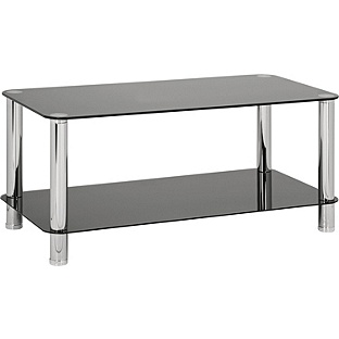 Black Glass Coffee Table Furniture Inspiration Ideas Simple And Neat Look The Shelf Underneath Is For Magazines (Image 4 of 10)