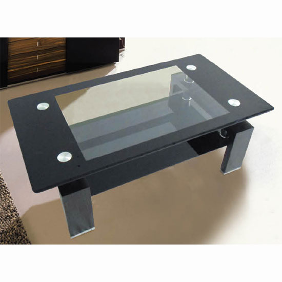 Featured Photo of Black Glass Coffee Table With Black Legs