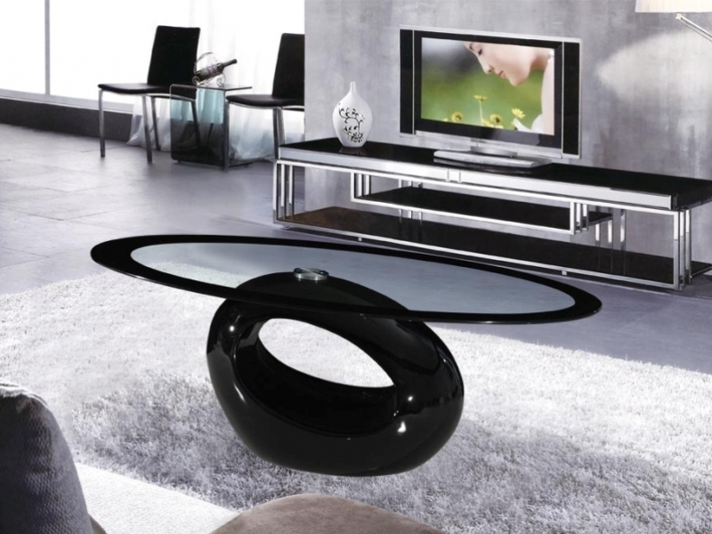 Black Glass Coffee Tables Cairo Oval Black High Gloss Clear Wonderful Brown Walnut Veneer Lift Top Drawer Glass Storage Accent Side Table Walmart Tables Elegant With Picture (View 2 of 10)