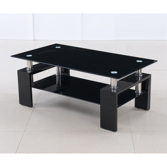 Black-Leather-Coffee-Table-Ott-With-High-Gloss-Legs-is-this-lovely-recycled-wood-iron-and-pine-shape-ensures-that-this-piece-will-make-a-statement (Image 1 of 10)