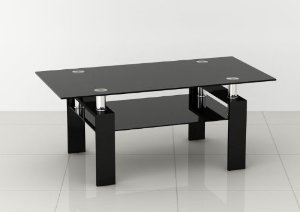 Black-Leather-Coffee-Table-Ottoman-Console-Tables-All-Narcissist-and-Nemesis-Family-Modern-Design-Sofa-Table-contemporary-Glass (Image 3 of 10)