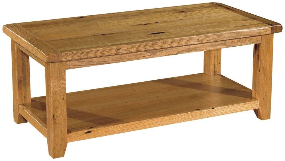 Featured Photo of Rustic Oak Coffee Table The Great