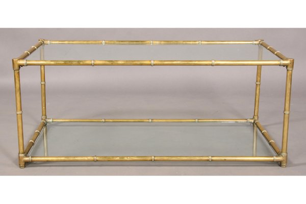 Brass Glass Coffee Table Is Both Practical And Stylish Interesting Glass Coffee Table Can Be Of Unusual Style The Angled Glass Provides For An Integral (View 5 of 10)