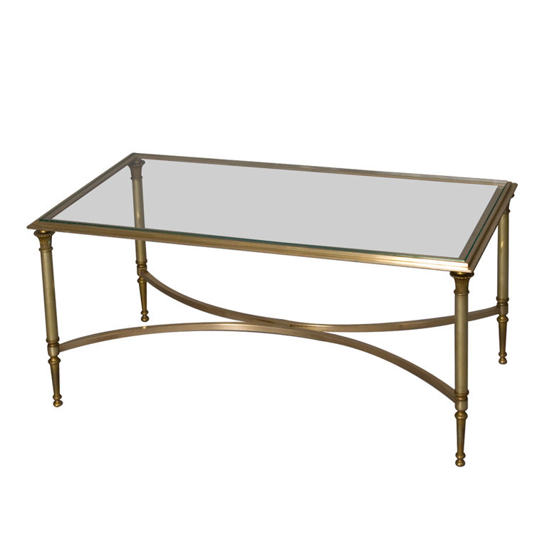 Bronze Glass Coffee Table I Have No Idea What It Cost But Whatever It Was It Is Very Much Worth It You Could Literally Display The Open Award Cases Comfortably Under The G (View 4 of 10)