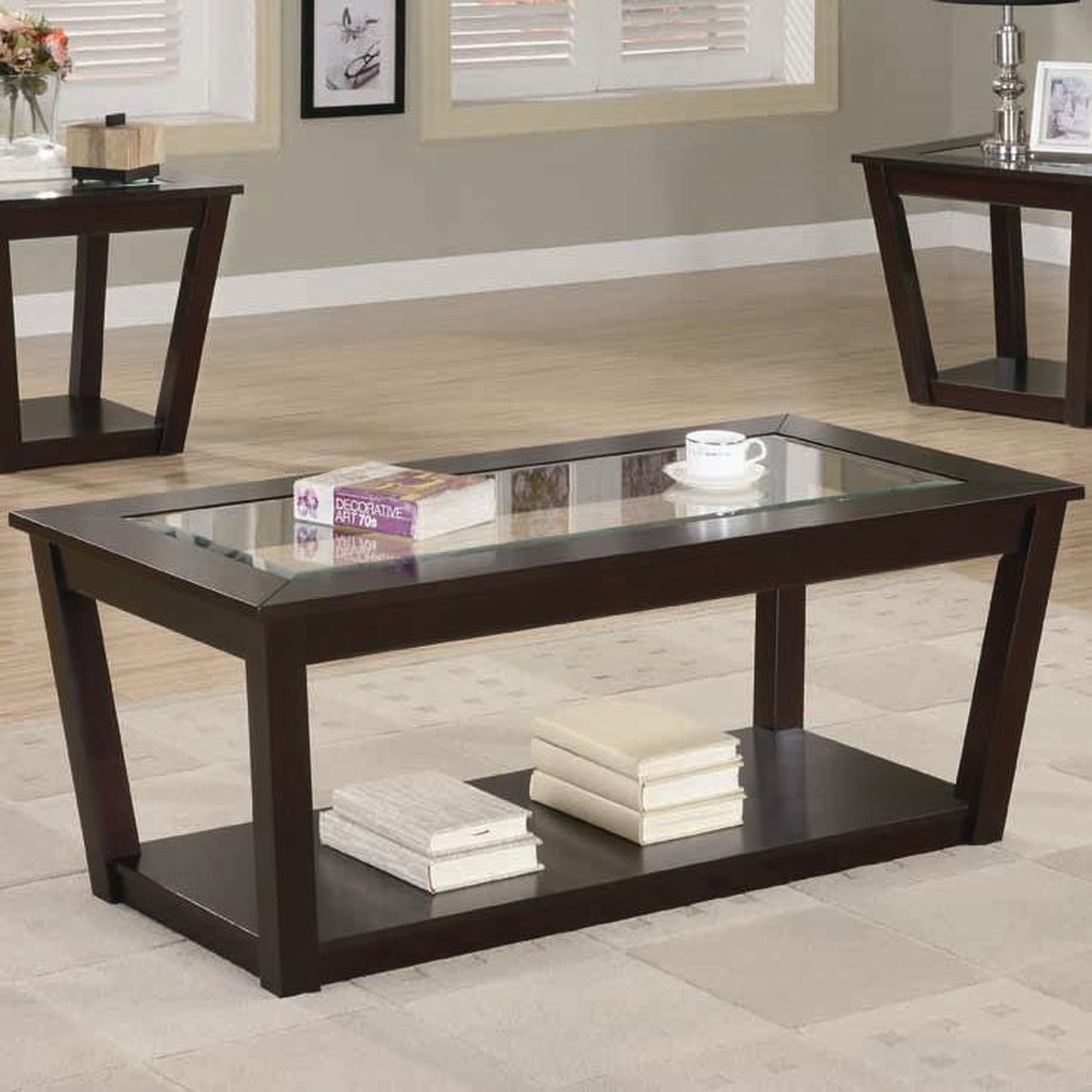 Brown Glass Coffee Table Related How To Decorate Your Living Room Furniture Inspiration Ideas Simple And Neat Look (Image 7 of 10)