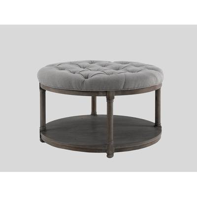 BrownstoneFurniture Lorraine Coffee Table Round Upholstered Coffee Table (Image 3 of 10)