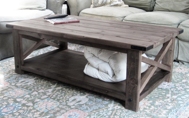 Build A Rustic X Coffee Table With Free Easy Plans And With Towel On Base Cheap Rustic Coffee Table (View 1 of 9)