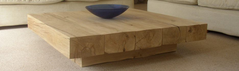 Ct20 Square Coffee Table With Cube Base View Our Selection Of Oak Beam Coffee Tables With Bowl At Above (View 2 of 10)