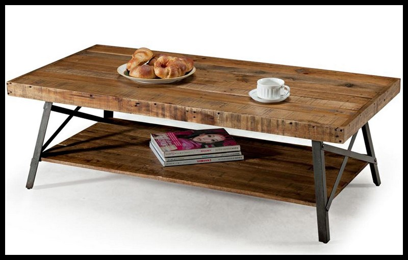 Cheap Rustic Coffee Table With Cup On Top The Coffe Table Square Shape Wood Steel Legs (View 3 of 9)