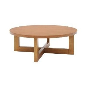 Chloe Round Wood Coffee Table Medium Oak Round Oak Coffee Table (Image 2 of 10)
