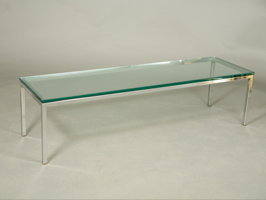 Popular Photo of Chrome Glass Coffee Table