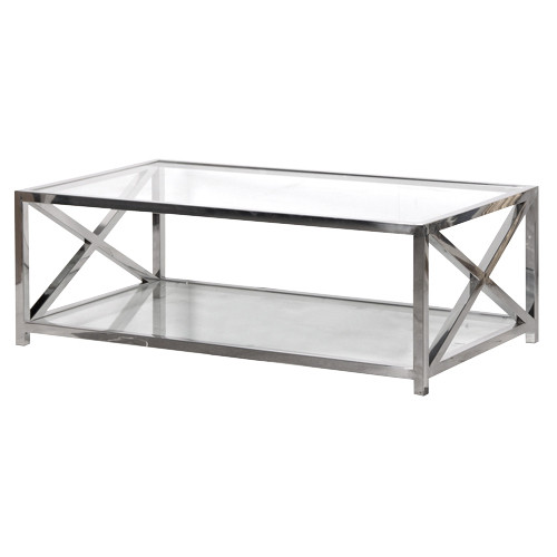 Chrome Glass Coffee Table You Keep Your Things Organized And The Table Top Clear The Perfect Size To Fit With One Of Our Younger Sectional Sofas (View 10 of 10)