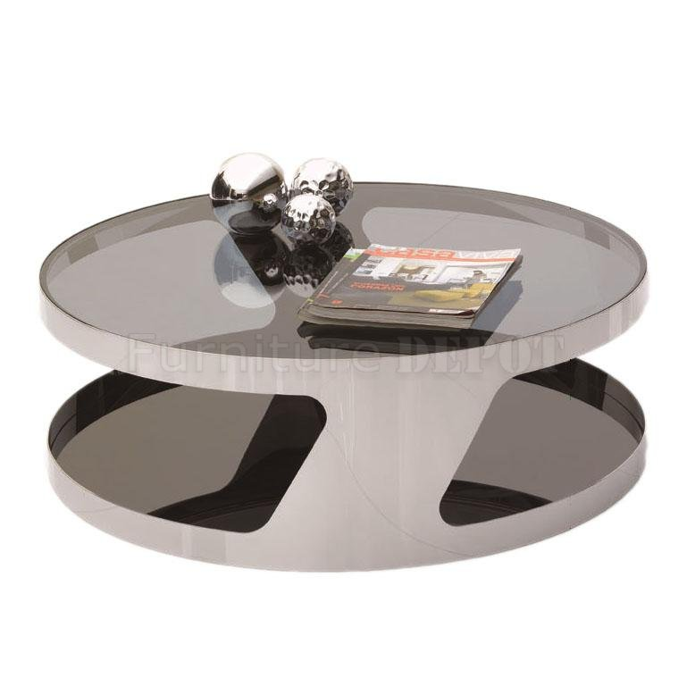 Chrome Round Coffee Table Finish Glass