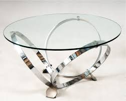 Chrome Round Coffee Table Round Shape With Steel Coffee Table Glass Chrome (View 4 of 10)