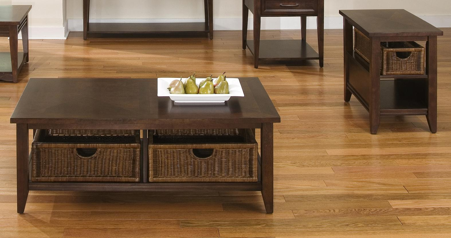 Coffee-Table-And-End-Table-Sets-products-liberty_furniture-color-lakewood-Lakewood-Basket-Coffee-Table-and-End-Table-Set (Image 8 of 9)