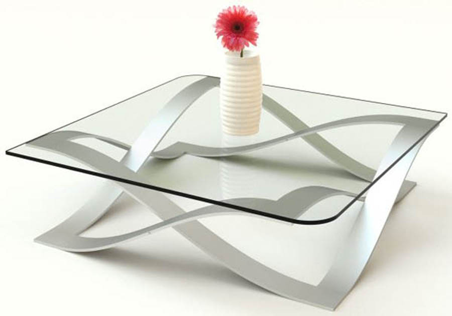 Coffee Table Glass Shape Ensures That This Piece Will Make A Statement Furniture Inspiration Ideas Simple And Neat Look (Image 5 of 10)