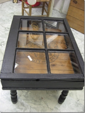 Coffee Table Sets On Sale DIY Old Window Converted Into A Coffee Table Or Buy One At A Yard Sale (Image 7 of 10)