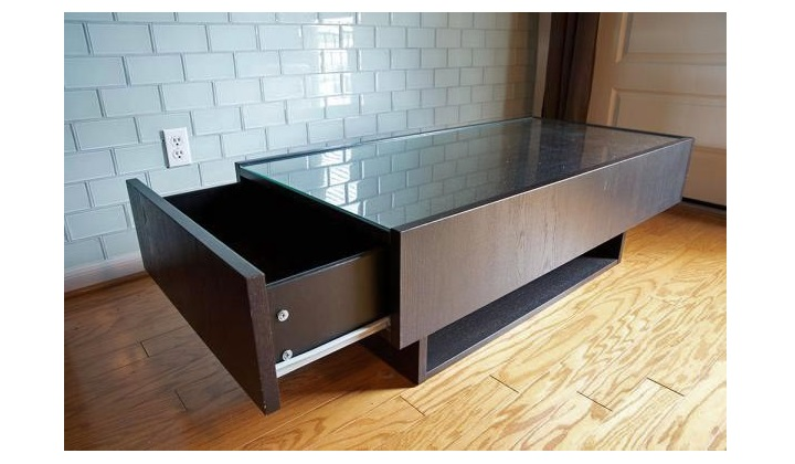 Coffee-Table-With-Glass-Top-Related-How-to-Decorate-Your-Living-Room-Modern-Design-Sofa-Table-contemporary-wooden (Image 5 of 10)