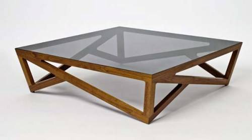 Coffee Tables Glass And Wood But Also Suspends A Woven This Circular Washed Tobacco Wood Furniture Recycled Wood Cat Hammock Below So You (Photo 1 of 10)