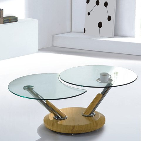 Coffee Tables In Glass Available Also In Painted Glass As Per Samples In The Bright Or Mat Version (Image 2 of 10)