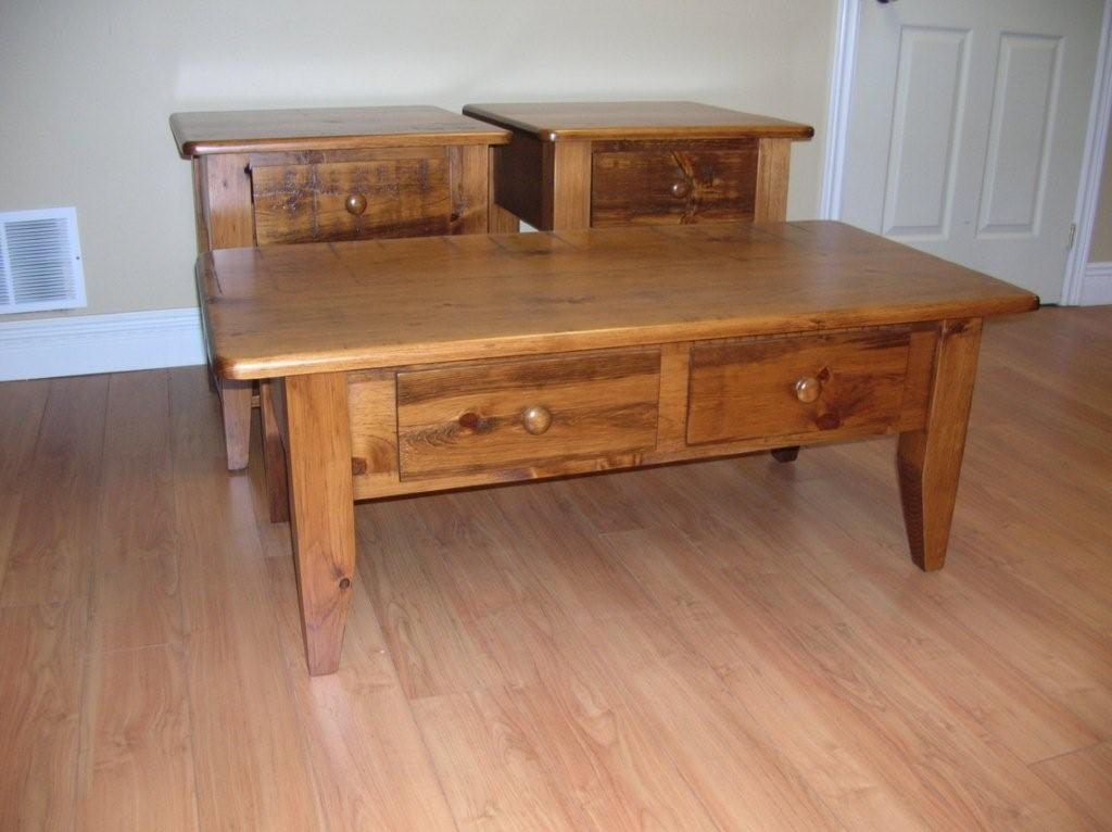 Coffee-table-end-tables-with-rustic-pine-coffee-Rustic-Barnboard-Pine-Coffee-Table-With-Matching-End-Tables-2 (Image 2 of 8)