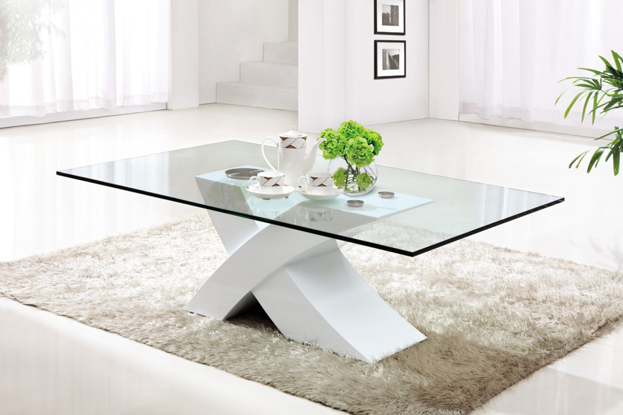Coffee Table With Ottomans Incredible Glass Top Table Designs For You To Enjoy Your Coffee Contemporary Decor On Table Design Ideas (View 4 of 10)
