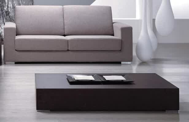 Contemporary Black Wood Modern Coffee Table Reclaimed