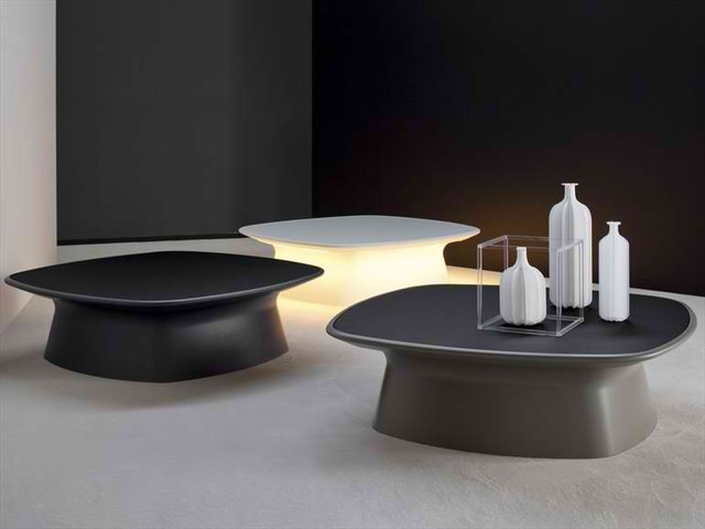 Contemporary Coffee Table Sets Aura Coffee Table Contemporary Coffee Tables With 3 Bottles Contemporary Coffee Tables 2 Set (Image 1 of 8)