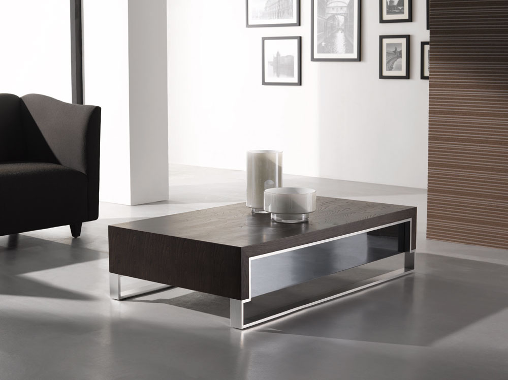 Contemporary Coffee Table Sets Modern Coffee Table Wood Square Table Furnish With Glass (Image 5 of 8)